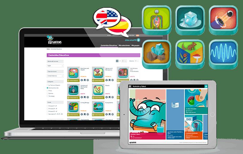 Contenidos y plataforma educativa Science&Fun